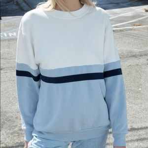 Brandy Melville Erica Colorblock Sweatshirt Rare